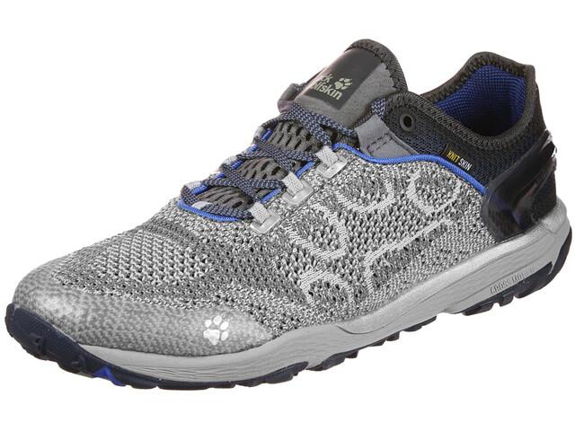 Jack Wolfskin Crosstrail Knit Low Chaussures de trail Homme, silver grey